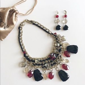 Cache Statement Necklace and Earrings